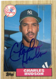 Charles Hudson Autographed 1987 Topps Traded Tiffany #50T