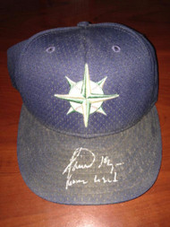 Jamie Moyer Autographed Game Used Seattle Mariners Cap Moyer Collection ID: 3486