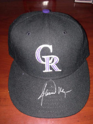 Jamie Moyer Autographed Game Issued Colorado Rockies Cap Moyer Collection