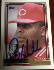 SOLD 3527 Billy Hatcher Autographed 1992 Topps Gold Winner #432