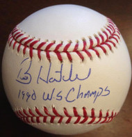 Billy Hatcher Autographed and Inscribed ROMLB Baseball