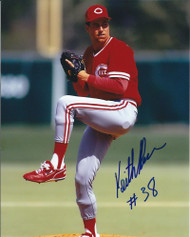 Keith Brown Autographed Reds 8 x 10 Photo