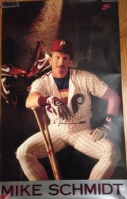 Mike Schmidt Autographed 1980's Nike Poster Very Rare