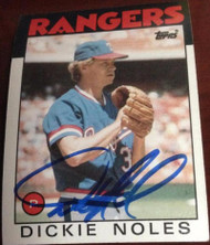 Dickie Noles Autographed 1986 Topps #388