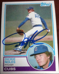 Dickie Noles Autographed 1983 Topps #99