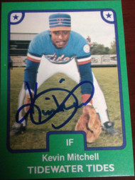 Kevin Mitchell Autographed 1984 TCMA Tidewater Tides #23