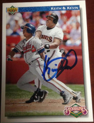 Kevin Mitchell Autographed 1992 Upper Deck #80