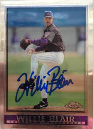 Willie Blair Autographed 1998 Topps Chrome #423