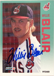 Willie Blair Autographed 1992 Fleer #106