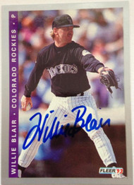 Willie Blair Autographed 1993 Fleer Final Edition #F-23
