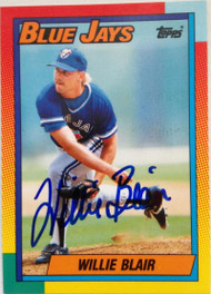Willie Blair Autographed 1990 Topps Traded #8T