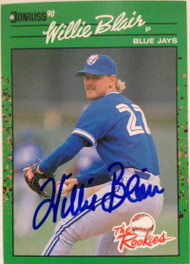 Willie Blair Autographed 1990 Donruss Rookies #267