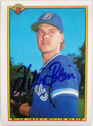 Willie Blair Autographed 1990 Bowman #504