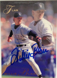 Willie Blair Autographed 1993 Flair #36