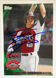 Devin Mesoraco Autographed 2010 Topps Pro Debut #353