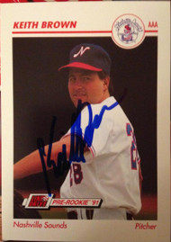 Keith Brown Autographed 1991 Line Drive AAA #253