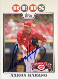 Aaron Harang Autographed 2009 Topps Redsfest Exclusive #39