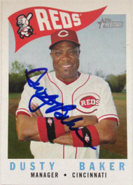 Dusty Baker Autographed 2009 Topps Heritage #213
