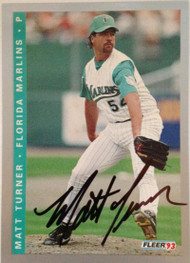 Matt Turner Autographed 1993 Fleer Final Edition #F-72