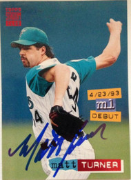 Matt Turner Autographed 1994 Stadium Club #319