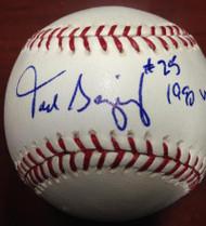 Todd Benzinger Autographed ROMLB Baseball 1990 World Champs