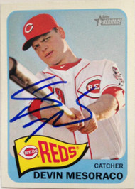 Devin Mesoraco Autographed 2014 Topps Heritage #324
