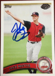 Jake Oester Autographed 2011 Topps Pro Debut #256