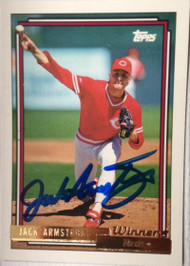 SOLD 3059 Jack Armstrong Autographed 1992 Topps Gold Winner #77