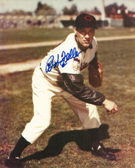 Bob Feller Autographed Indians 8 x 10  Photo