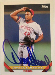 Dwayne Henry Autographed 1993 Topps #29