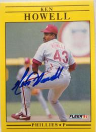 SOLD 4070 Ken Howell Autographed 1991 Fleer #400