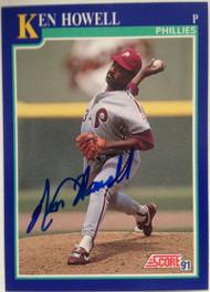 Ken Howell Autographed 1991 Score #458