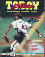 SOLD 4079 Ken Howell Autographed 1989 Phillies Today Magazine
