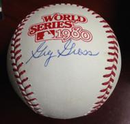 Greg Gross Autographed 1980 World Series Baseball