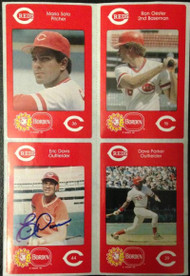 Eric Davis Autographed 1984 Borden Stickers SGA Rookie Very Tough