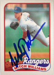 Mitch Williams Autographed 1989 Topps #411