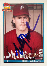 Mitch Williams Autographed 1991 Topps Traded #127T