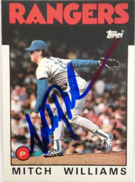Mitch Williams Autographed 1986 Topps Traded #125T
