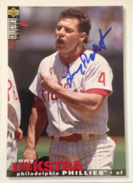 Lenny Dykstra Autographed 1995 Collectors Choice #365