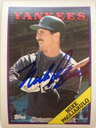 Mike Pagliarulo Autographed 1988 Topps #435