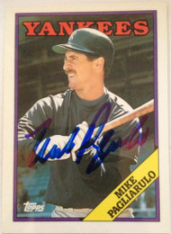Mike Pagliarulo Autographed 1988 Topps Tiffany #435