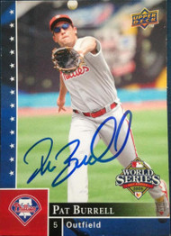 Pat Burell Autographed 2008 Upper Deck Philadelphia Phillies World Series Champions #PP-5