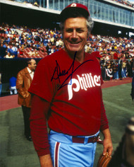 Dallas Green Autographed Phillies 8 x 10  Photo