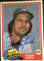 Randy Lerch Autographed 1981 Topps #792