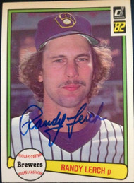 Randy Lerch Autographed 1982 Donruss #595