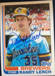 Randy Lerch Autographed 1982 Topps #466