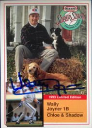 Wally Joyner Autographed 1993 Milk Bone Super Stars #11