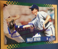 Wally Joyner Autographed 1995 Score Gold Rush #256