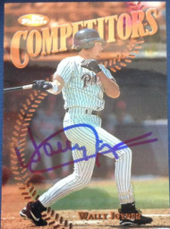 Wally Joyner Autographed 1997 Topps Finest #201