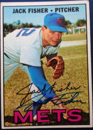 Jack Fisher Autographed 1967 Topps #533
